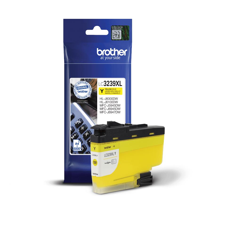 Originální Brother LC3239XLY Inkoustová kazeta s vysokou výtěžností - žlutá 2