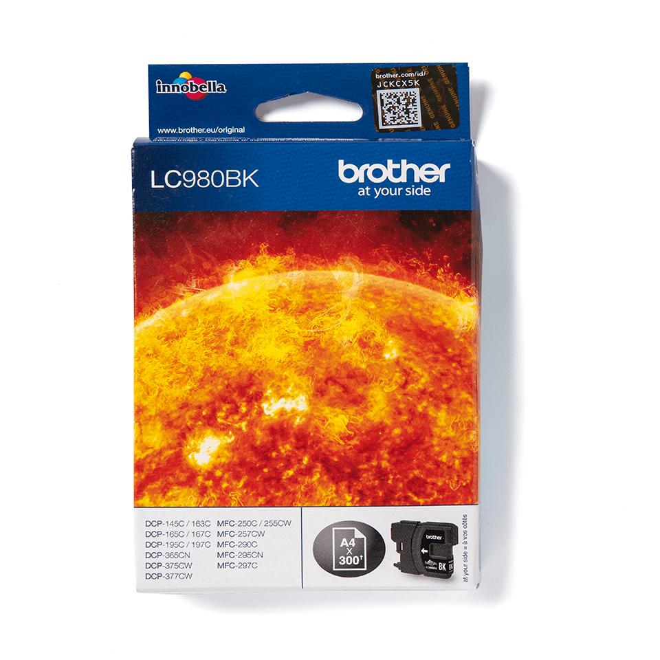 Originální inkoustová kazeta Brother LC980BK – černá