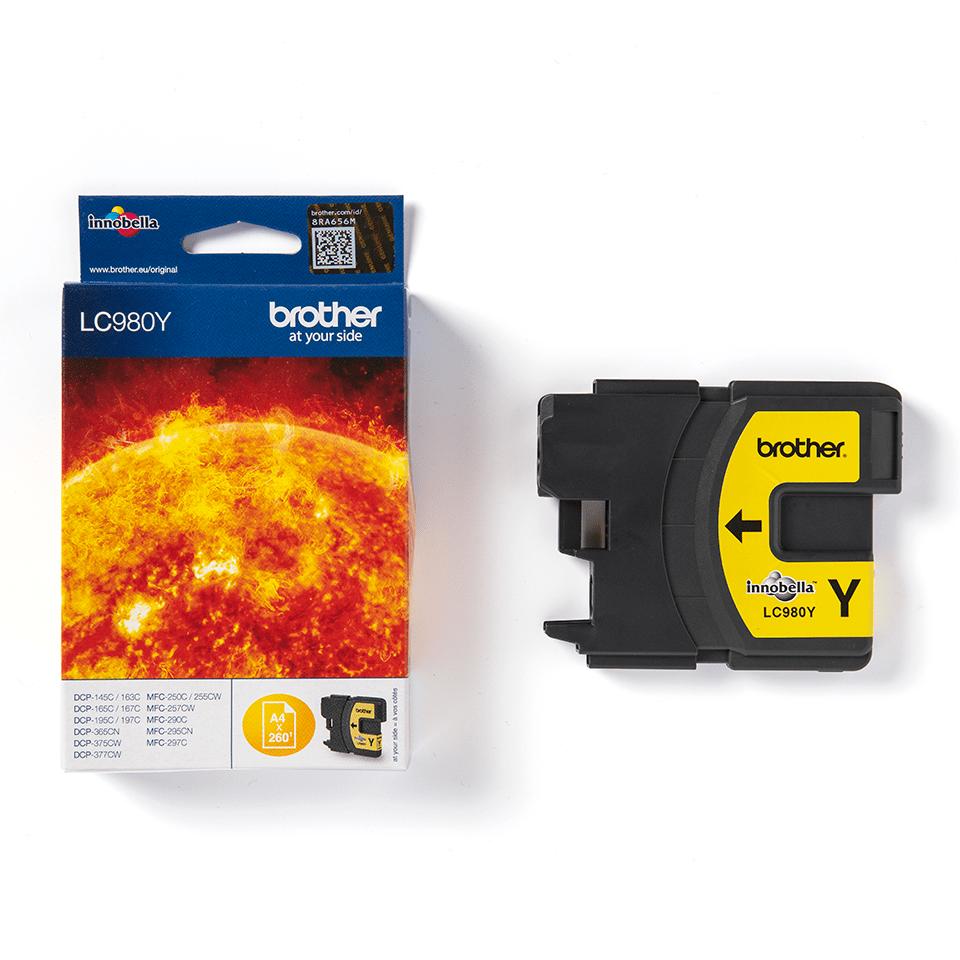 Originální inkoustová kazeta Brother LC980Y – žlutá 3