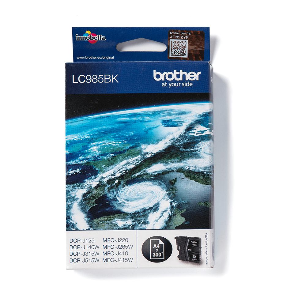 Originální inkoustová kazeta Brother LC985BK – černá