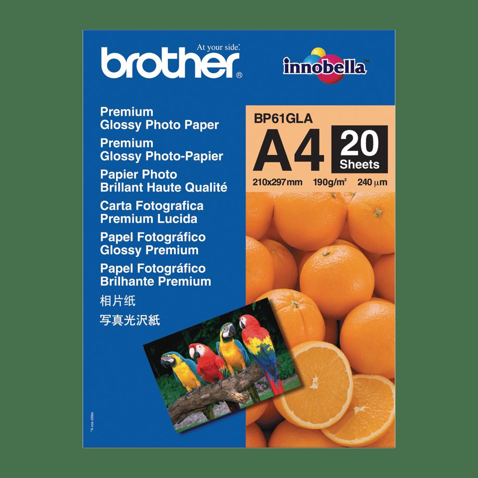 Originální lesklý fotopapír Brother BP61GLA formátu A4