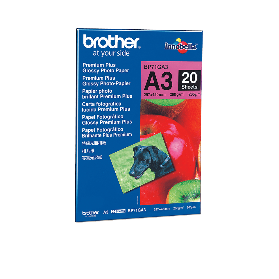 Originální lesklý fotopapír Brother BP71GA3 formátu A3