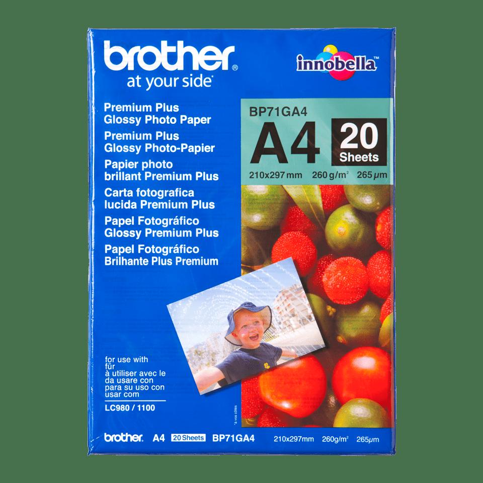 Originální lesklý fotopapír Brother BP71GA4 formátu A4