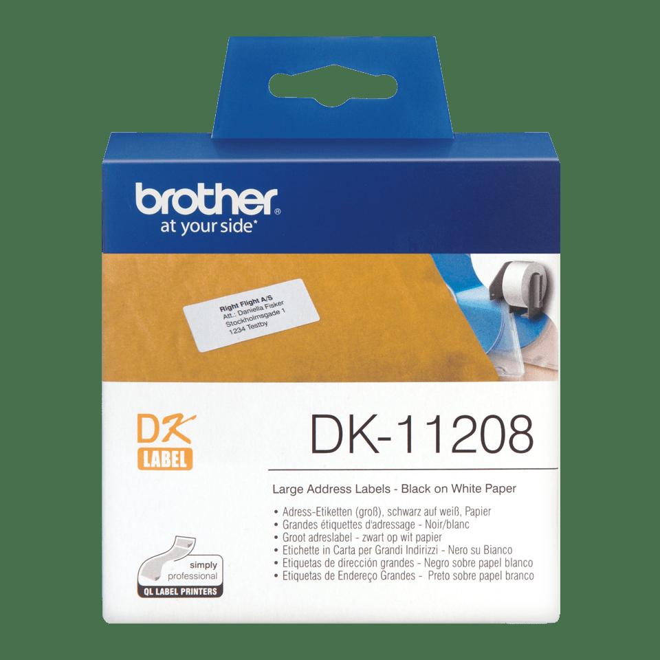 Originální štítek Brother DK-11208 - černá na bílé, 38 mm x 90 mm