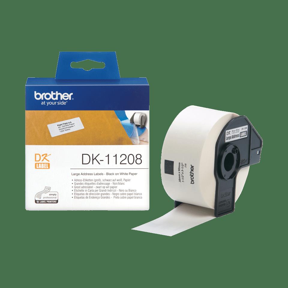 Originální štítek Brother DK-11208 - černá na bílé, 38 mm x 90 mm 3