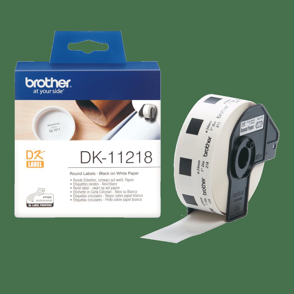 Originální štítek Brother DK-11218 - černá na bílé, 24 mm x 90 mm 3