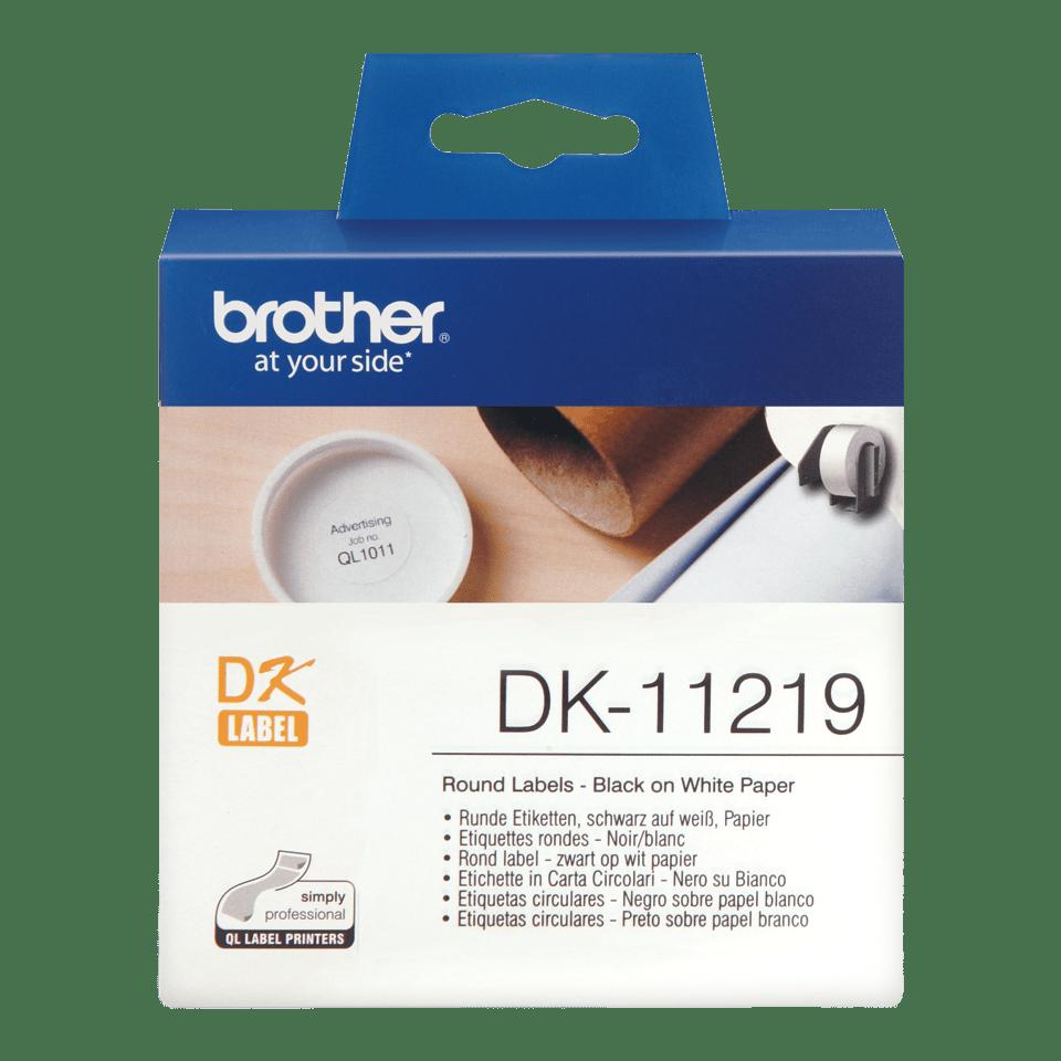 Originální štítek Brother DK-11219 - černá na bílé, 29 mm x 90 mm
