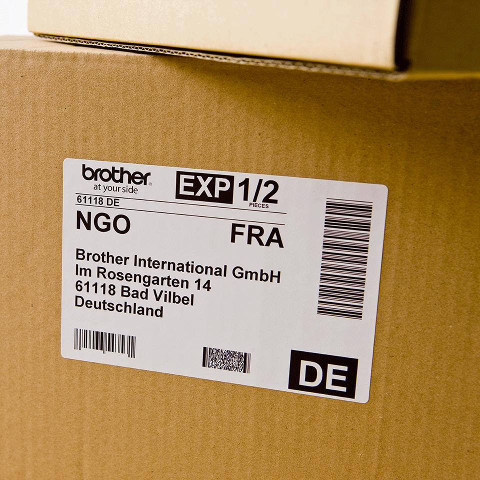 Originální štítek Brother DK-11241 - černá na bílé, 102 mm x 152 mm 2