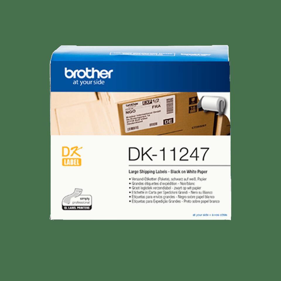 Originální Brother DK-11247 - černá na bílé, 103 mm x 164 mm