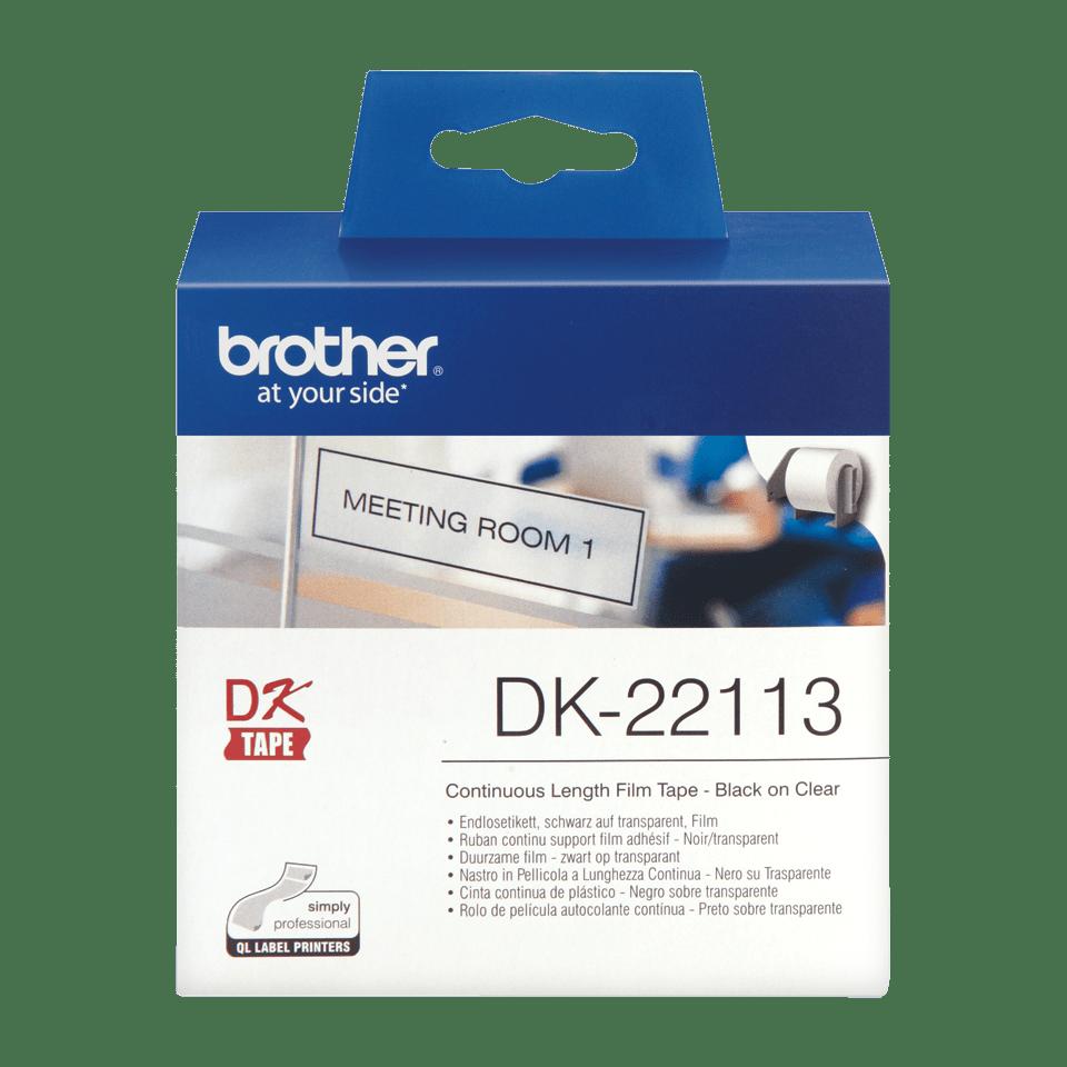 Originální Brother DK-22113 průsvitná filmová role pro černý potisk – 62mm. 2