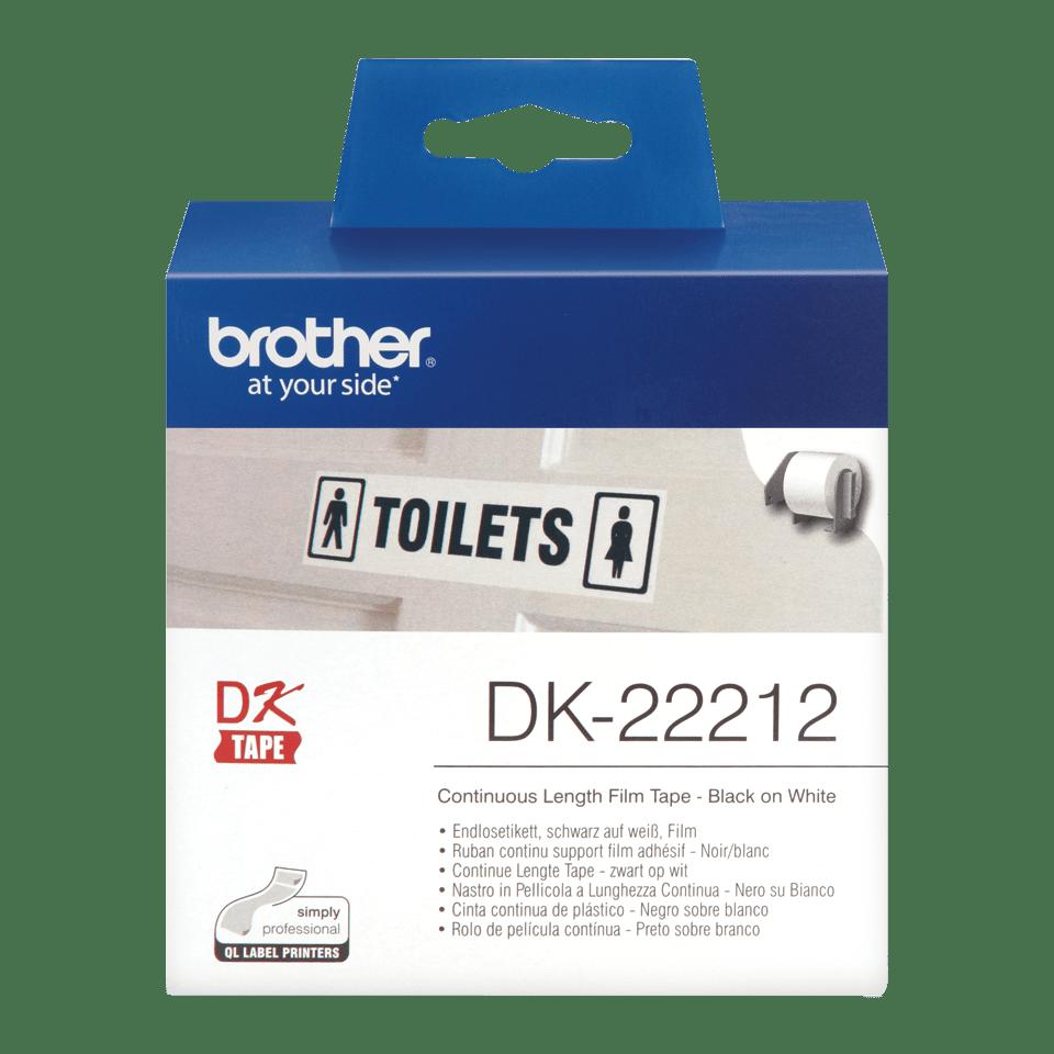 Originální Brother DK-22212 kontinuální filmová role - černá na bílé, 62 mm