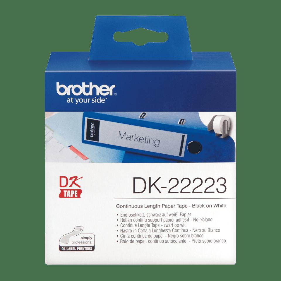 Originální Brother DK-22223 kontinuální papírová páskal – černá na bílé, 50 mm šířka