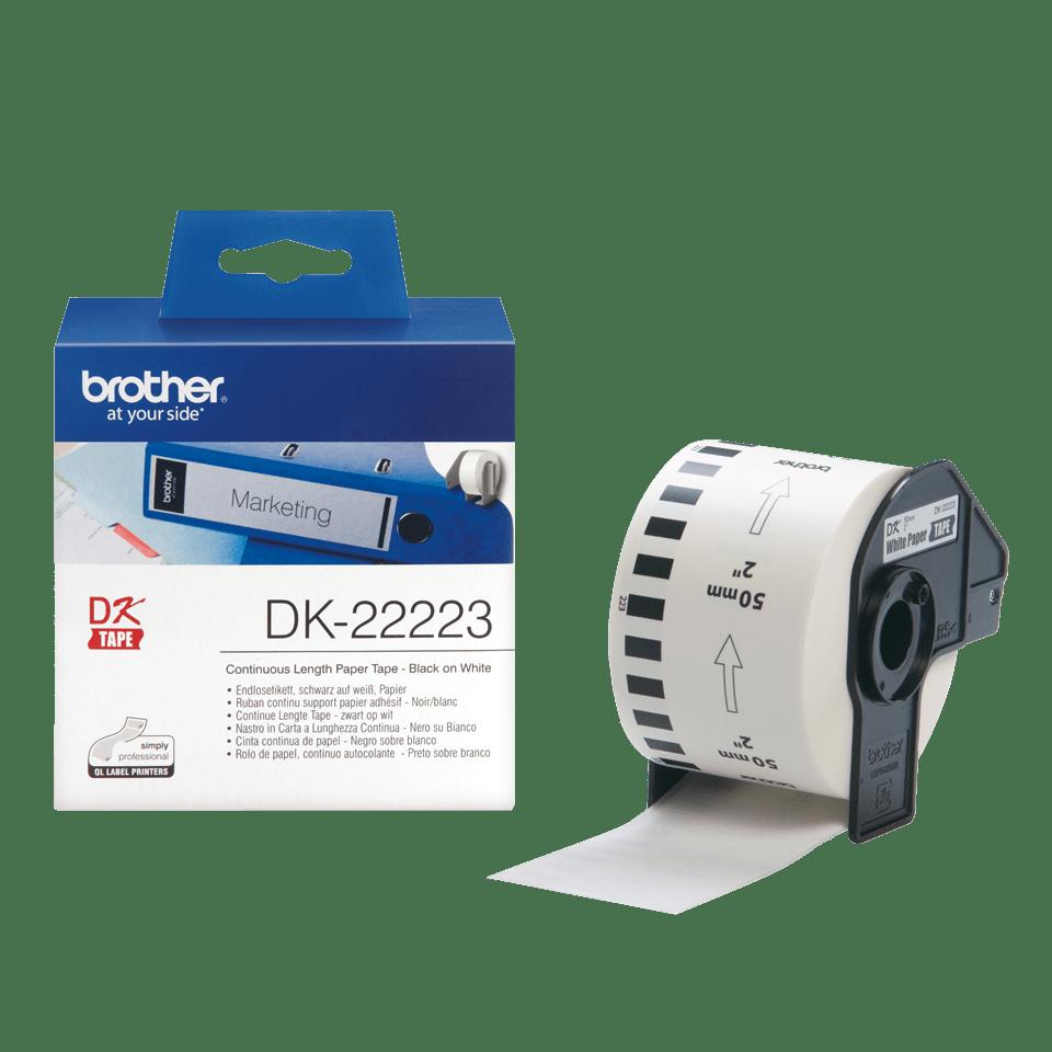 Originální Brother DK-22223 kontinuální papírová páskal – černá na bílé, 50 mm šířka 3