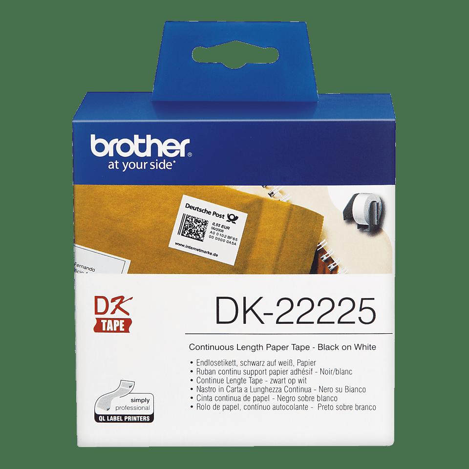 Originální Brother DK-22225 kontinuální papírová role – černá na bílé, 38 mm šířka 2