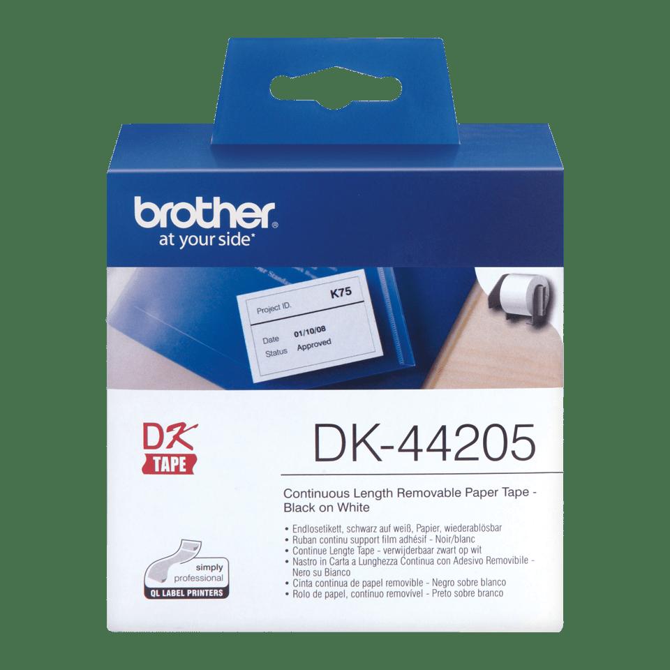 Originální štítek Brother DK-44205 - černá na bílé s odstranitelným lepidlem - 62mm