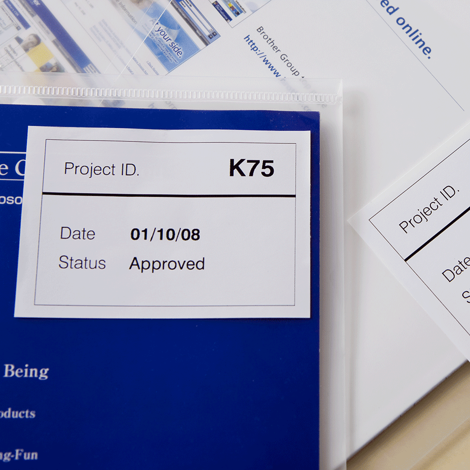Originální štítek Brother DK-44205 - černá na bílé s odstranitelným lepidlem - 62mm 2
