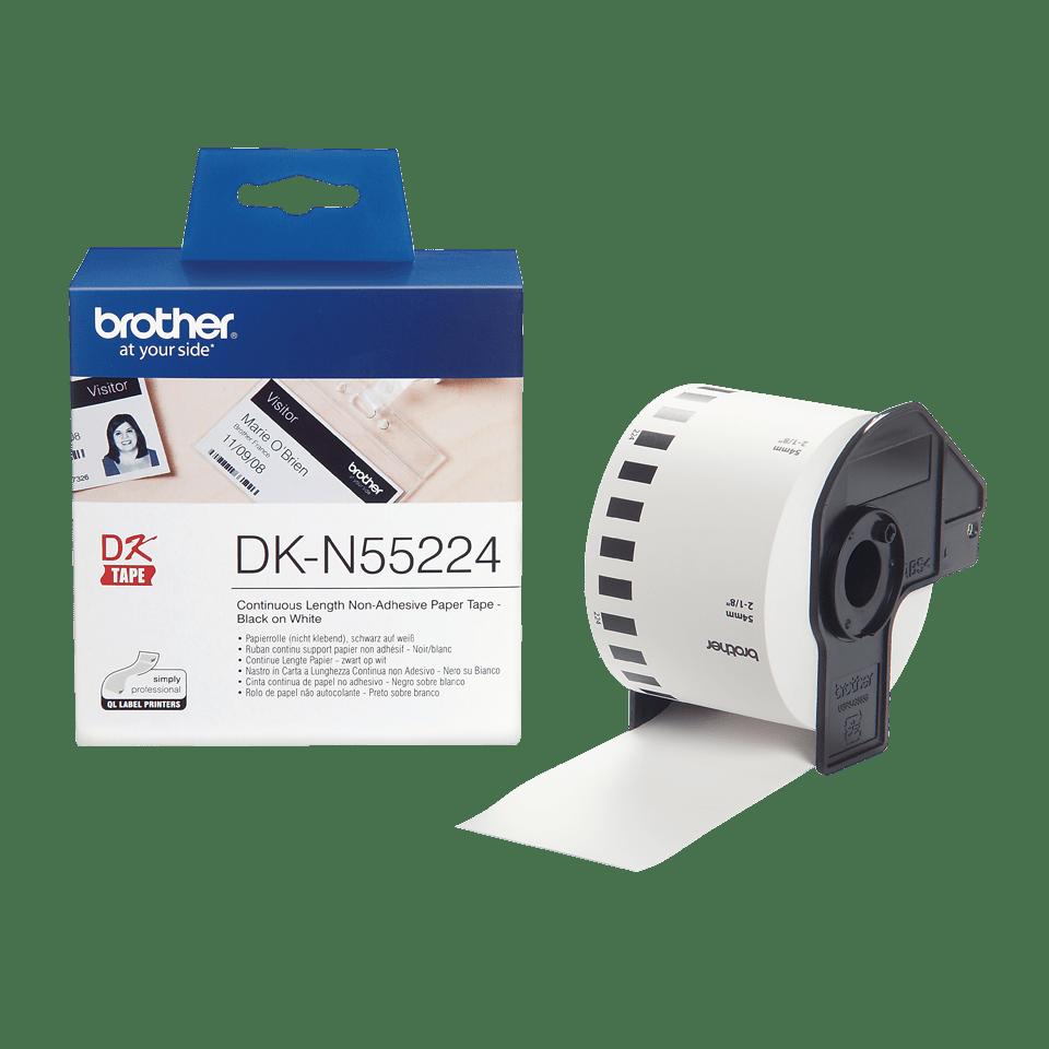 Originální Brother DK-N55224 kontinuální nelepivá páska - černá na bílé, 54 mm 3
