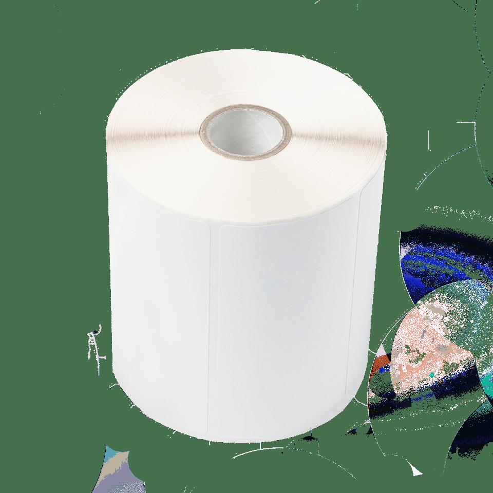Vysekávané bílé štítky bez povrchové úpravy Roll BUS-1J074102-121