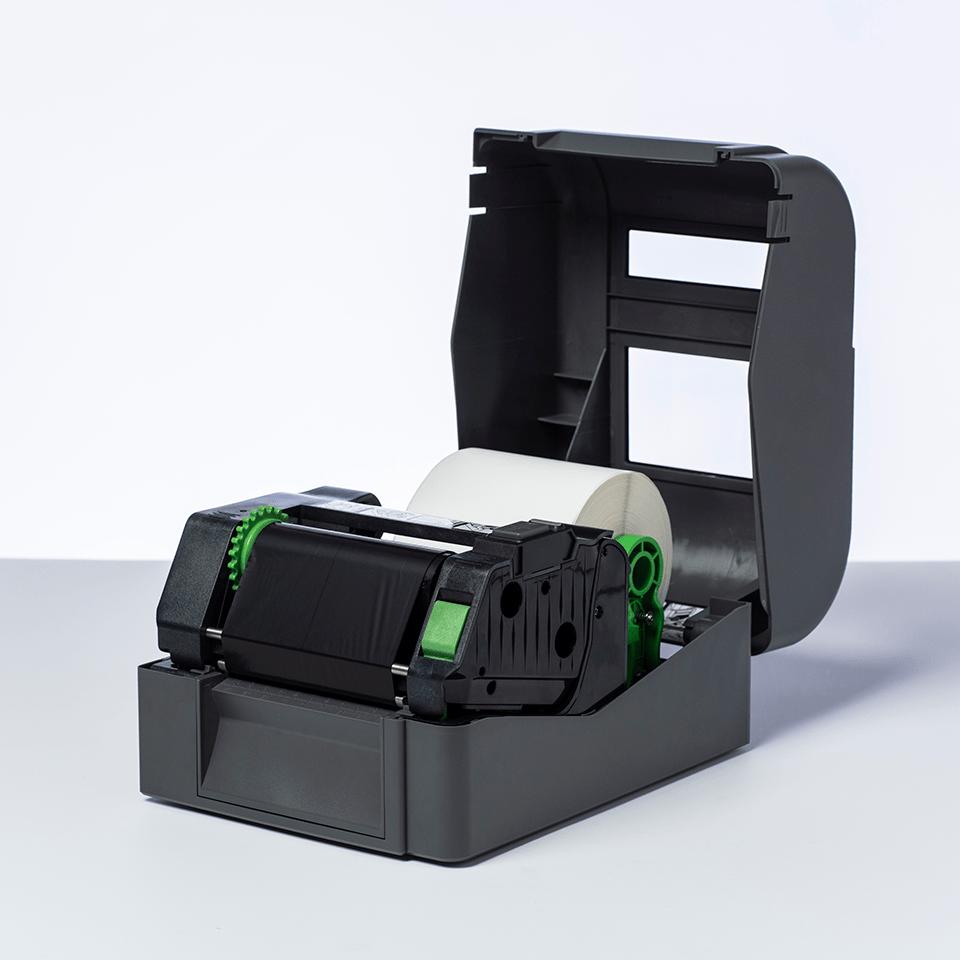 Standardní vosková / pryskyřičná termotransferová černá barvonosná páska BSS-1D300-110 2