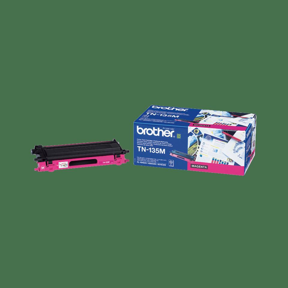 Originální tonerová kazeta Brother TN135M s vysokou výtěžností – purpurová