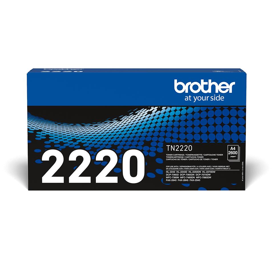Originální tonerová kazeta Brother TN-2220 černá.