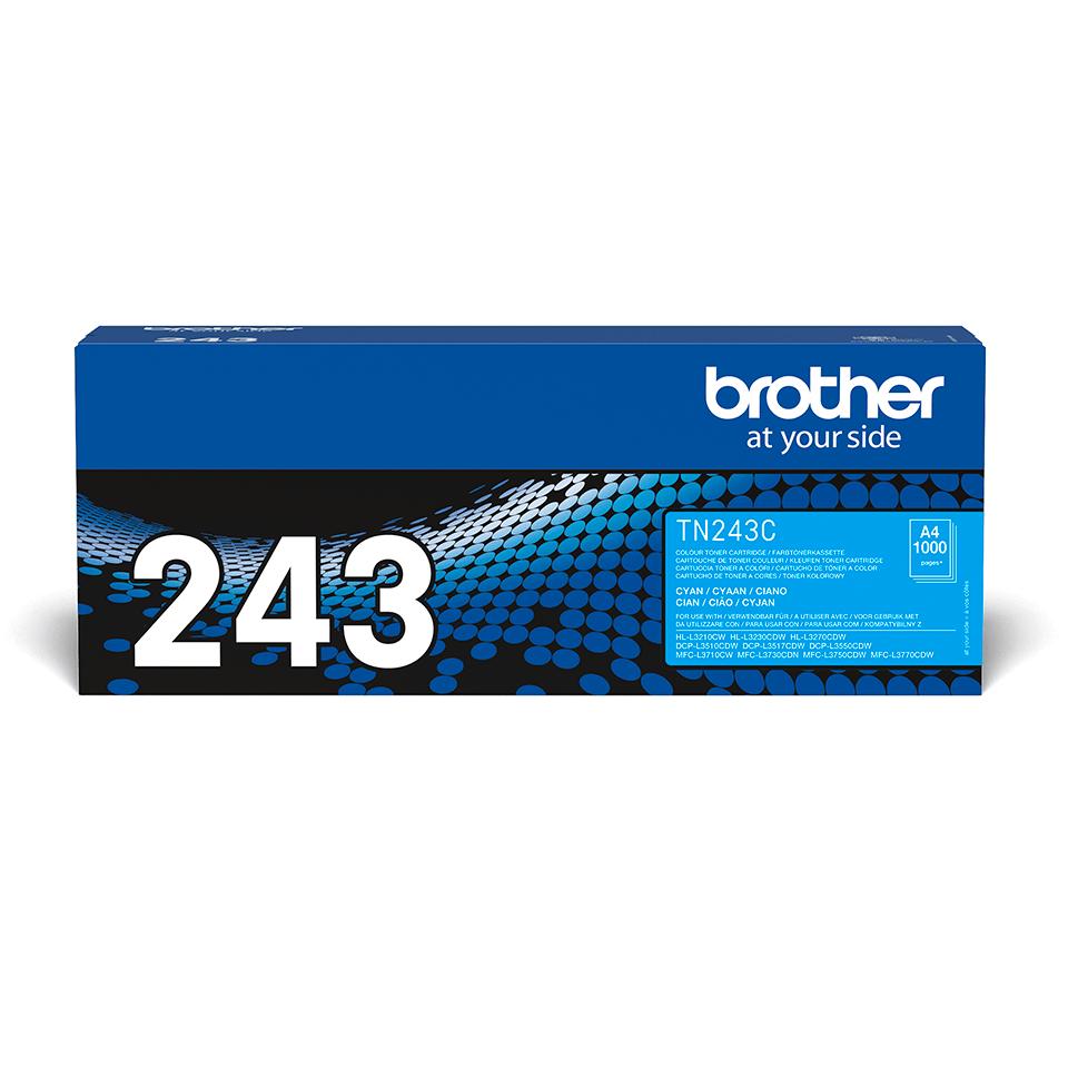 Originální tonerová kazeta Brother TN-243C - azurová