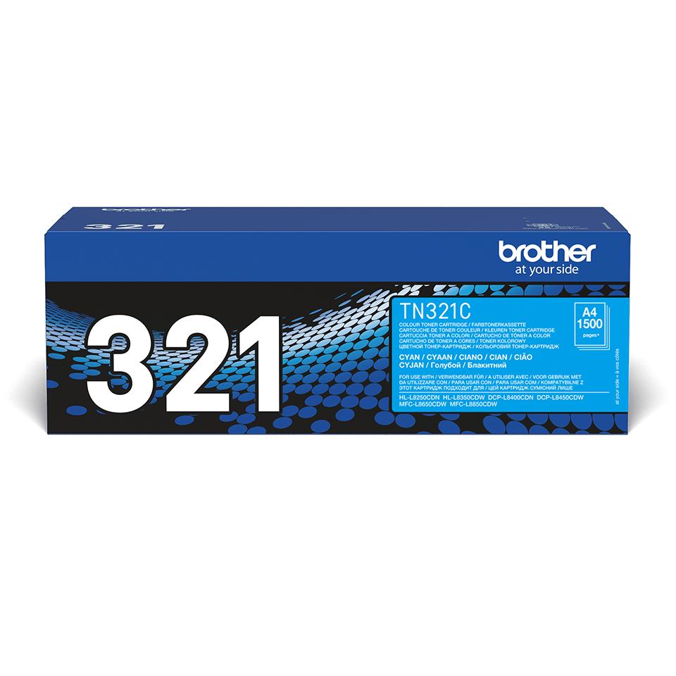 Originální tonerová kazeta Brother TN321C – azurová