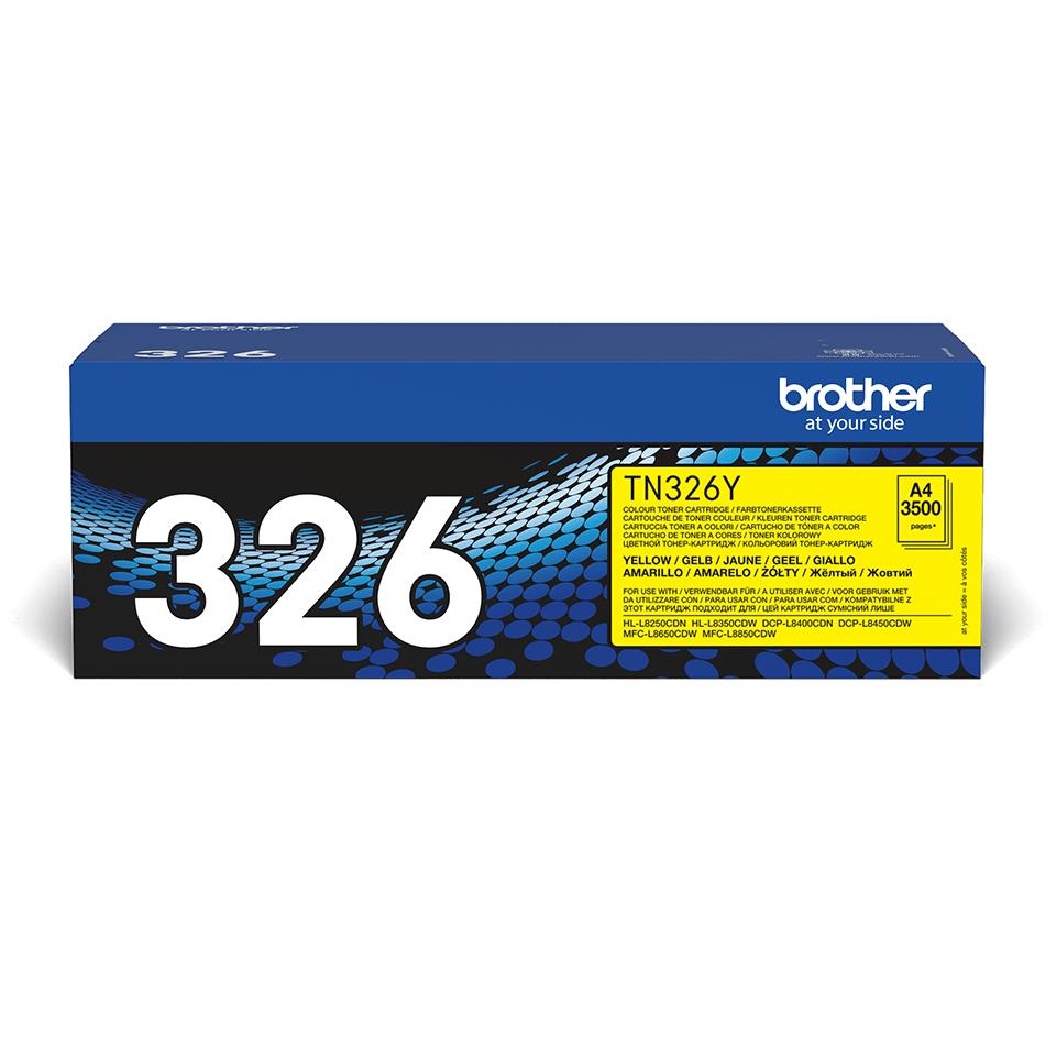 Originální tonerová kazeta Brother TN326Y – žlutá