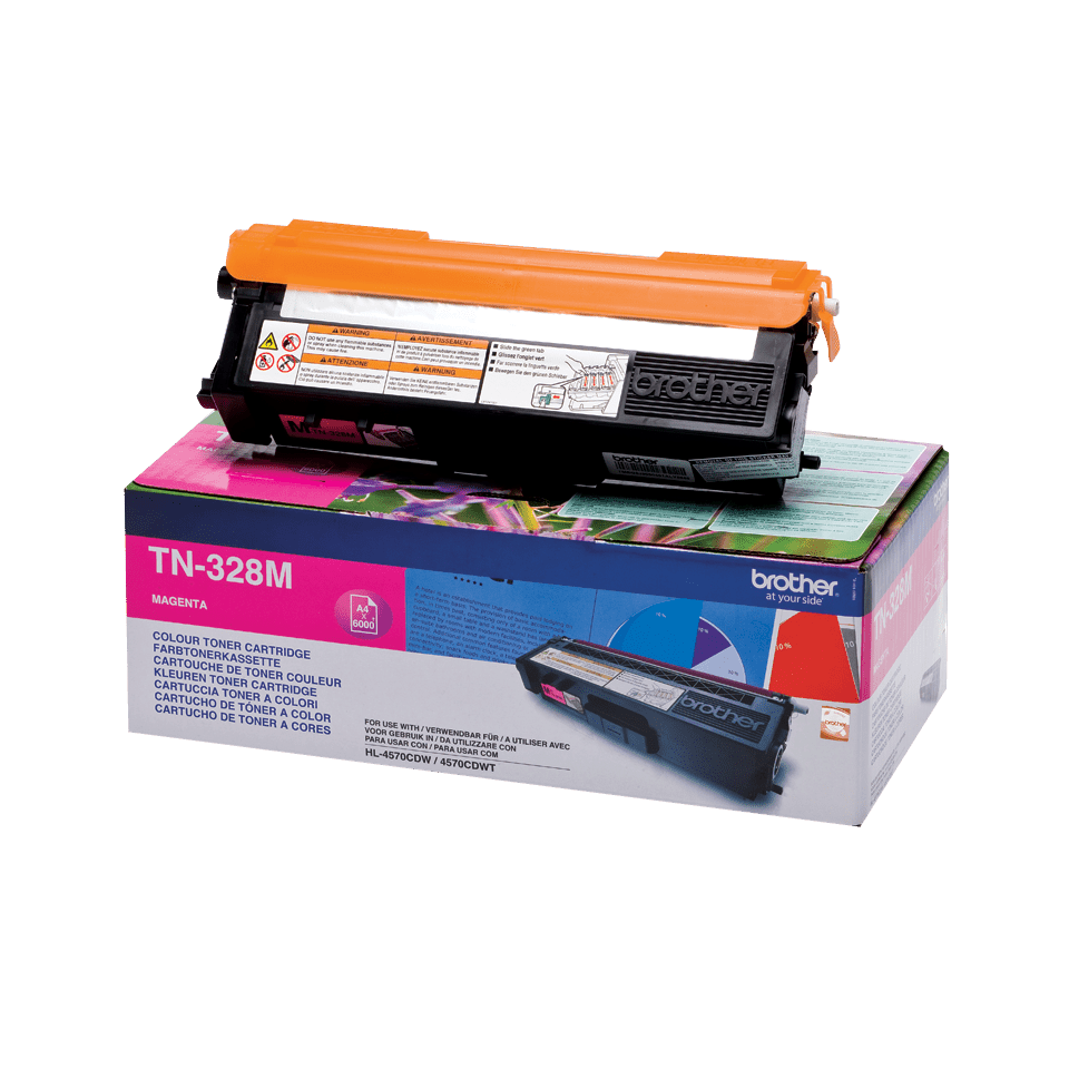 Originální tonerová kazeta Brother TN328M – purpurová