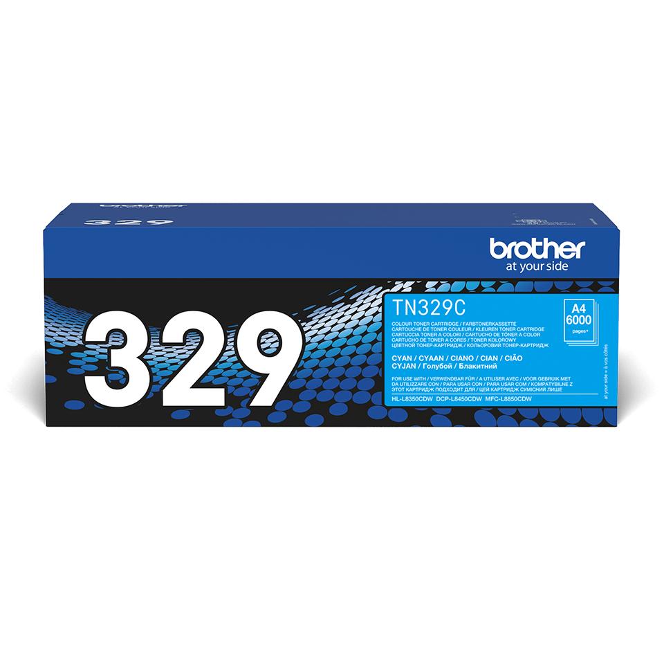 Originální tonerová kazeta Brother TN329C – azurová