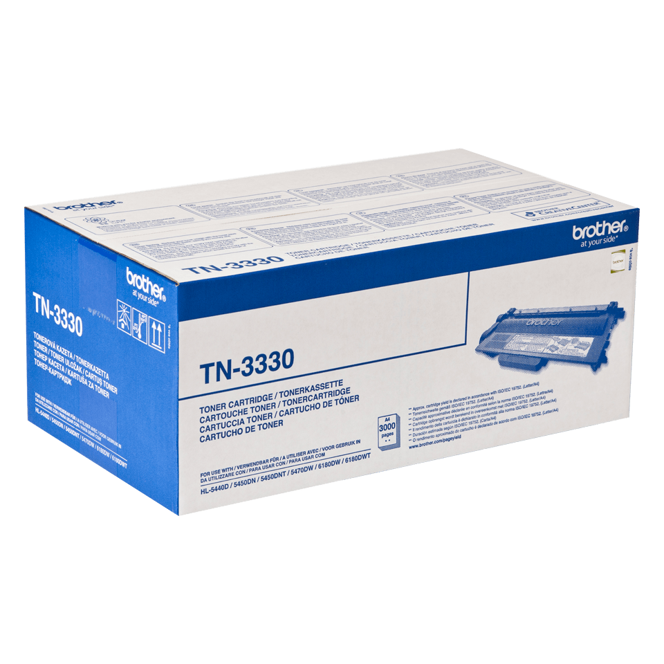 Genuine Brother TN-3330 Toner Cartridge – Black