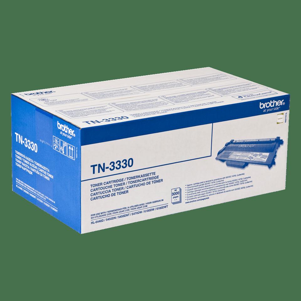 Genuine Brother TN-3330 Toner Cartridge – Black