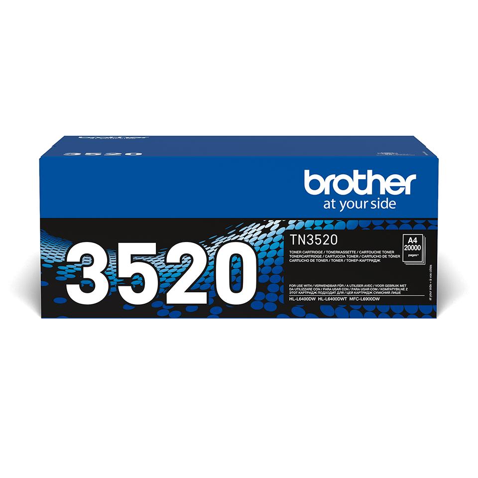 Originální tonerová kazeta Brother TN-3520.