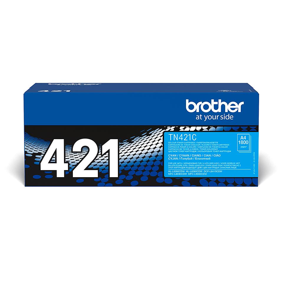 Brother TN-421C tonerová kazeta - azurová 2