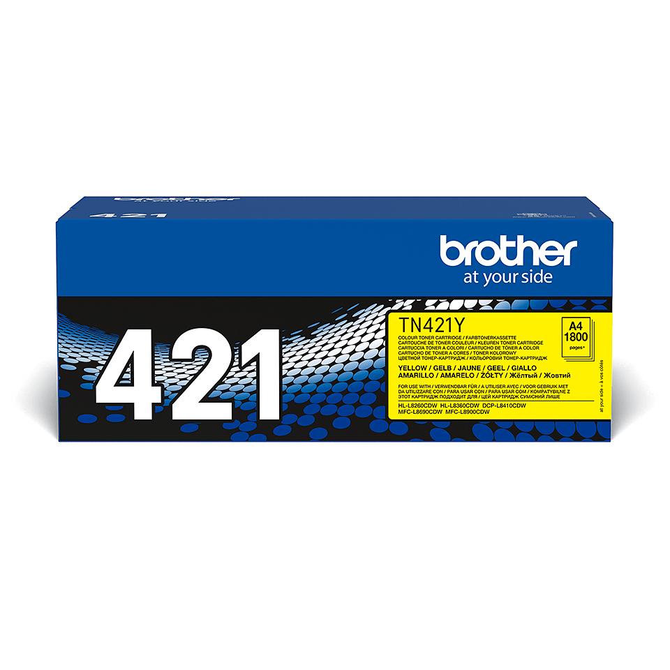 Originální tonerová kazeta Brother TN421Y – žlutá 2