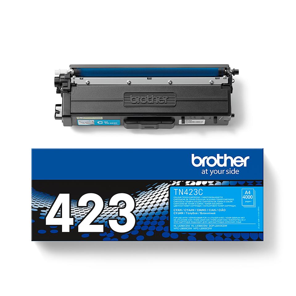 Originální tonerová kazeta Brother TN423C – azurová 2