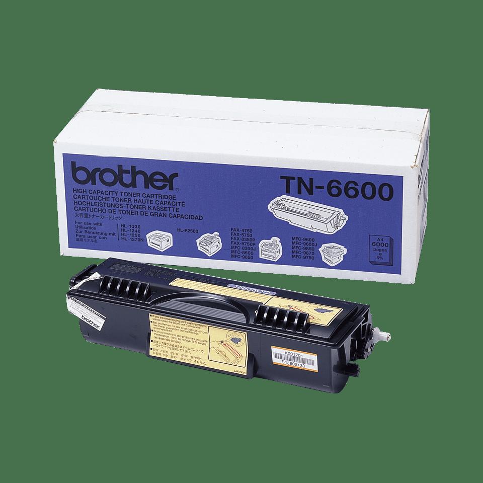 Genuine Brother TN-6600 High Yield Toner Cartridge – Black