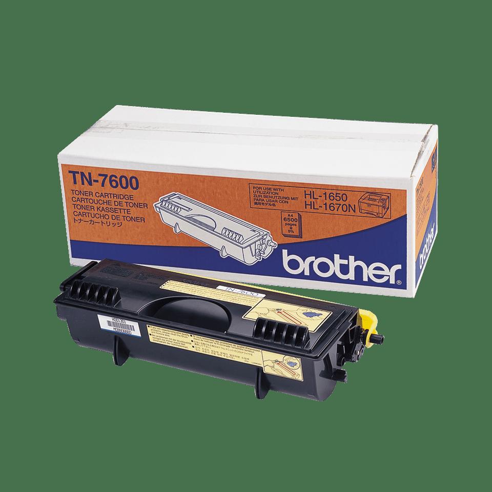 Originální tonerová kazeta Brother TN7600 s vysokou výtěžností – černá