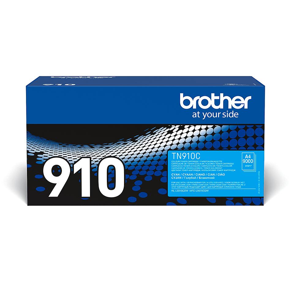Originální tonerová kazeta Brother TN910C – azurová