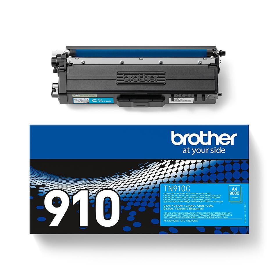 Originální tonerová kazeta Brother TN910C – azurová 2