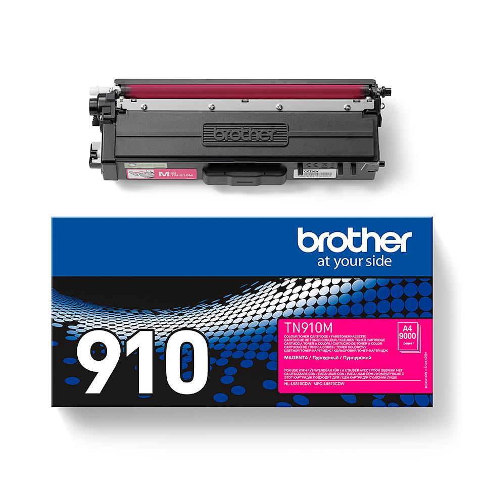 Originální tonerová kazeta Brother TN910M – purpurová 2