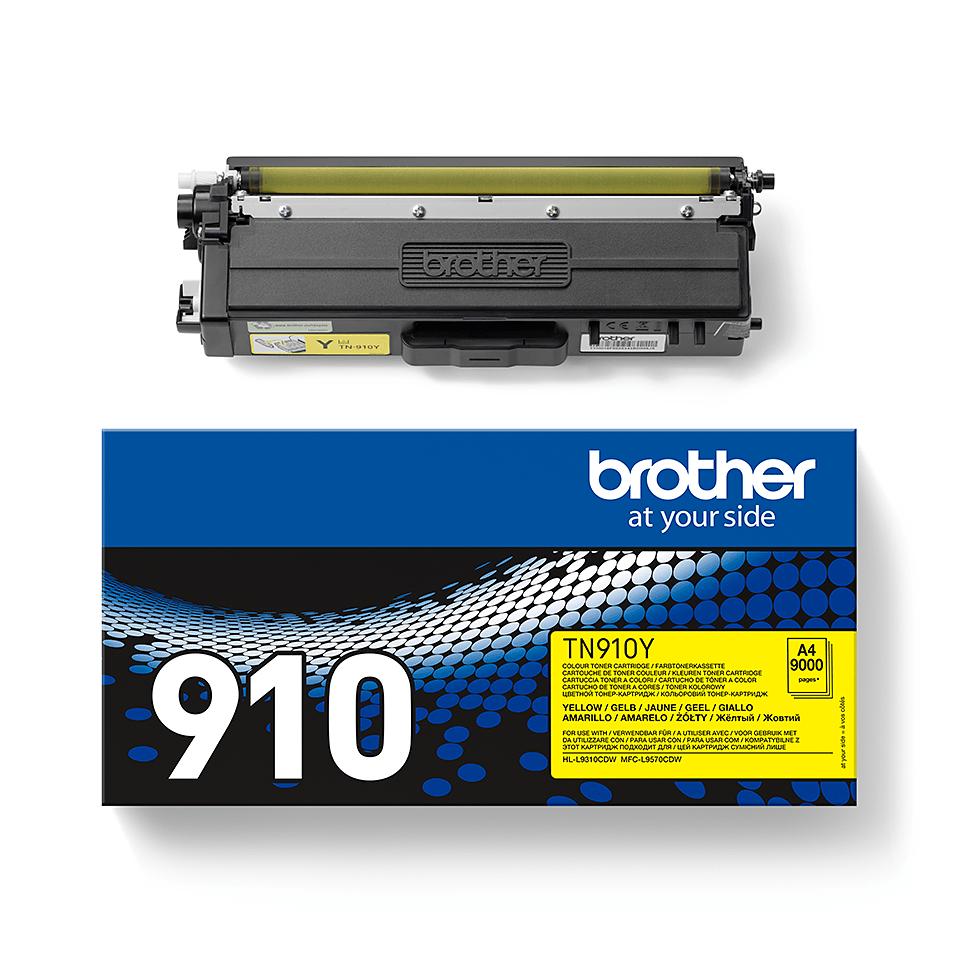 Originální tonerová kazeta Brother TN910Y – žlutá 2