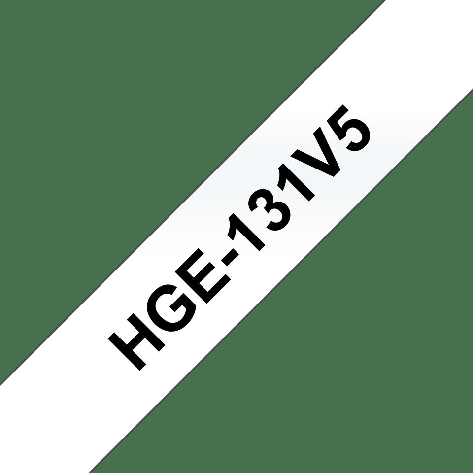 Originální štítek Brother HGe-131V5 - černá na čiré, 12 mm šířka