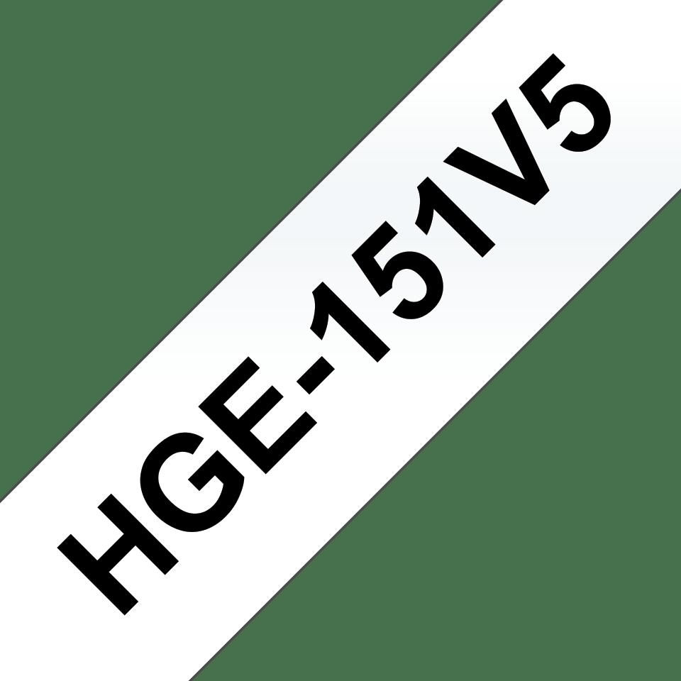 Originální štítek Brother HGe-151V5 - černá na čiré, 24 mm šířka