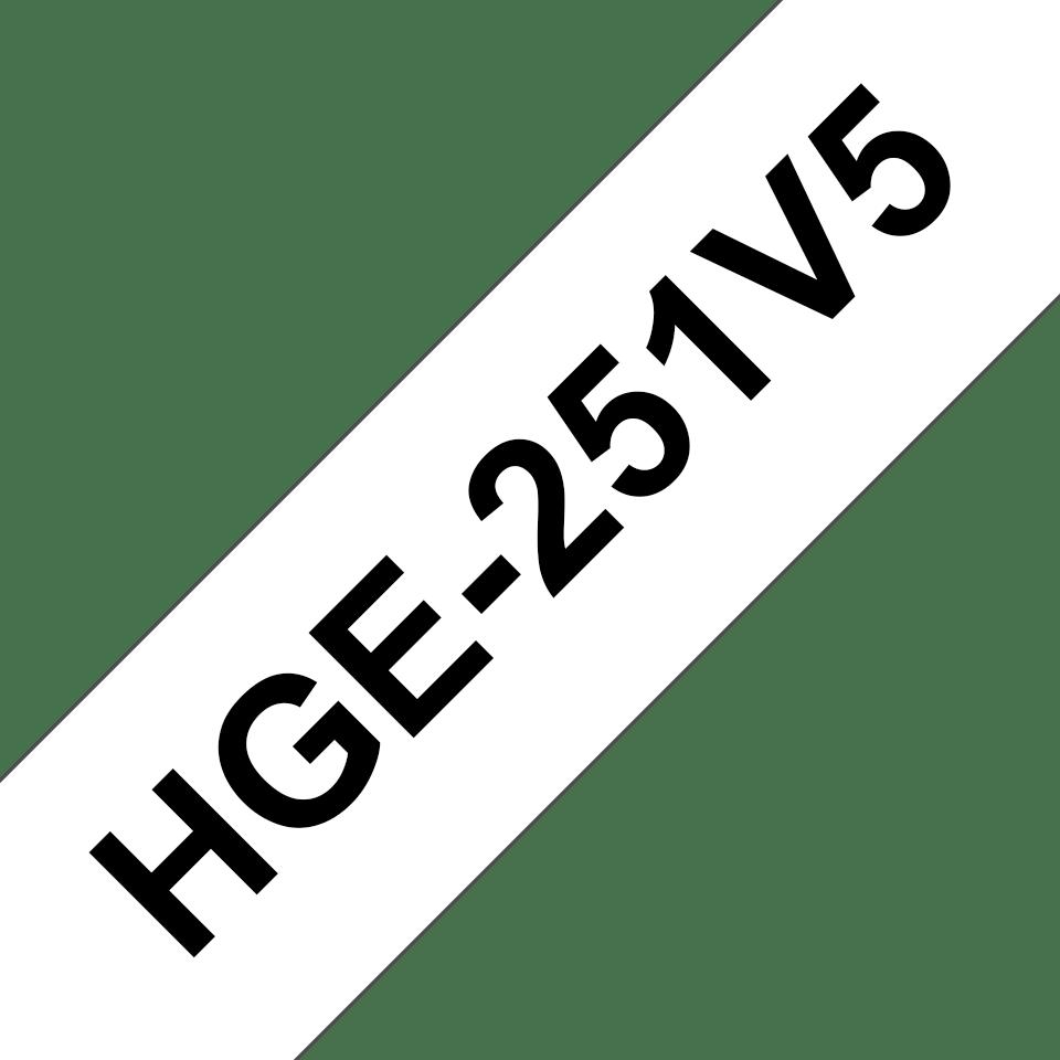 Originální štítek Brother HGe-251V5 - černá na bílé, 24 mm šířka