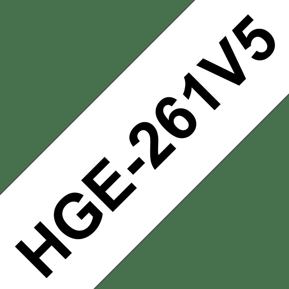 Originální štítek Brother HGe-261V5 - černá na bílé, 36 mm šířka
