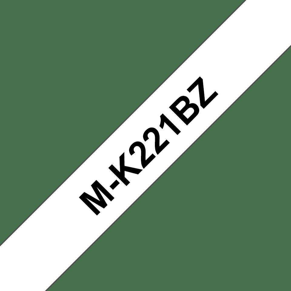 Originální kazeta s páskou Brother M-K221BZ - černý tisk na bílé, šířka 9 mm