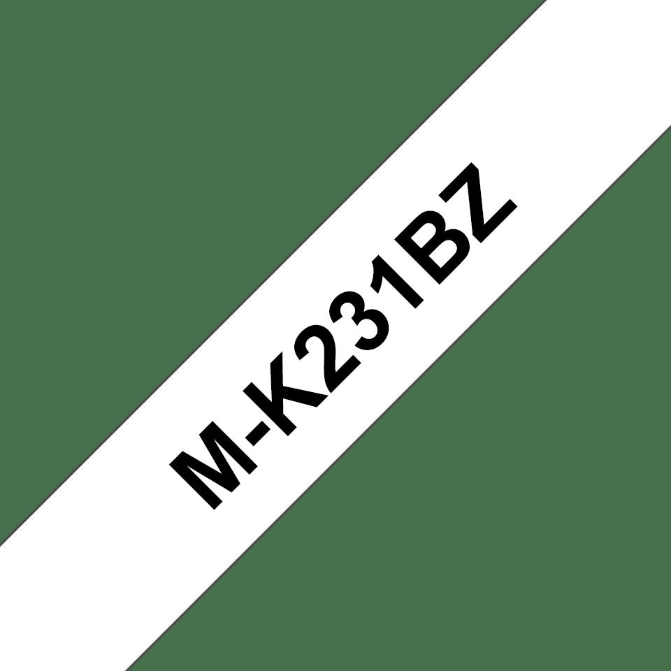 Originální páska pro tisk štítků Brother MK231BZ – černý tisk na bílém podkladu, šířka 12 mm