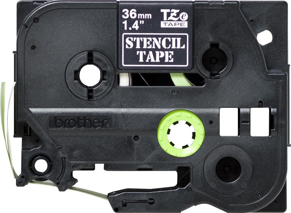 Originální kazeta s páskou pro výrobu šablon STe-161 - černá, šířka 36 mm