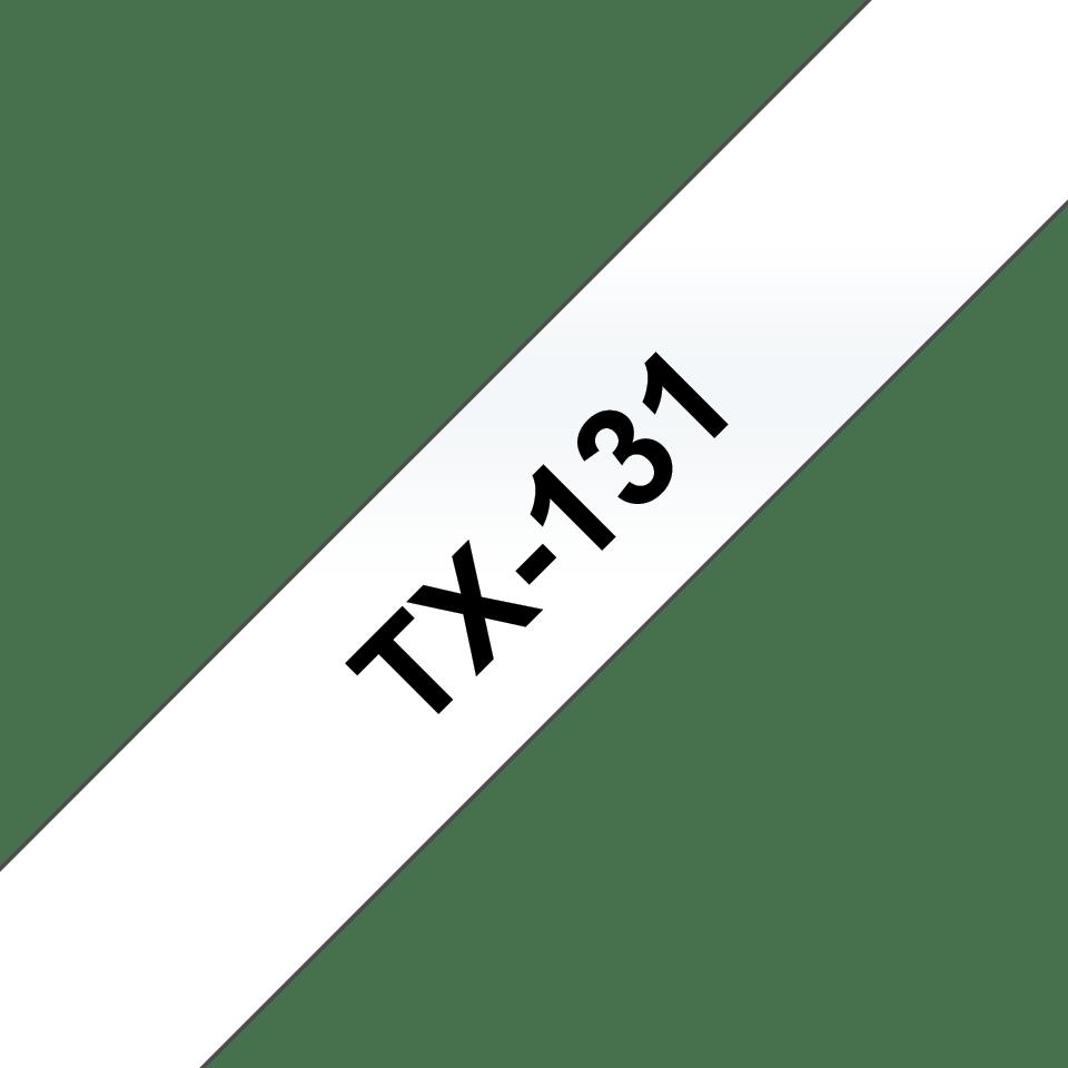 Originální pásková kazeta pro tisk štítků Brother TX131 – černý tisk na čirém podkladu, šířka 12 mm